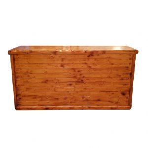 Rustic Wooden Front Bar (2m) Mobile And Collapsible