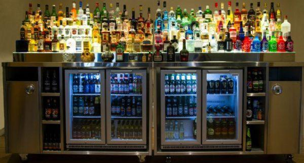 Back Bar Including Bottle Fridge