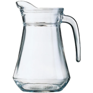 Clear Glass Water Jug