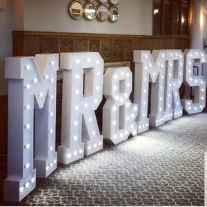 Mr-Mrs Wedding LED Letters