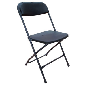 classic black folding chair