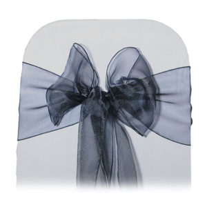 black organza bow tie
