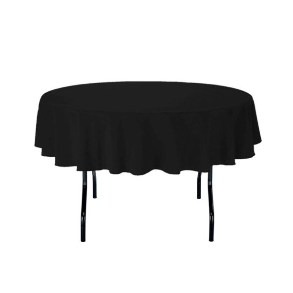 round table covers black cover cloth tablecloth