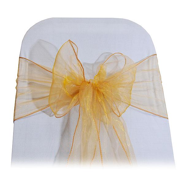 gold organza bow ties