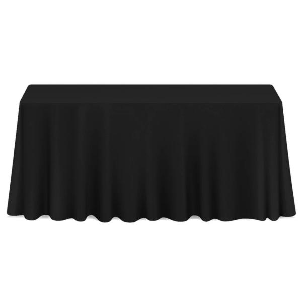 70 x 108 tablecloth Black Linen 90 X 132