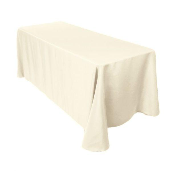 tablecloths ivory table linen 90 X 132 tablecloth