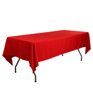 linen for rectangular tables 70 x 144 tablecloth red