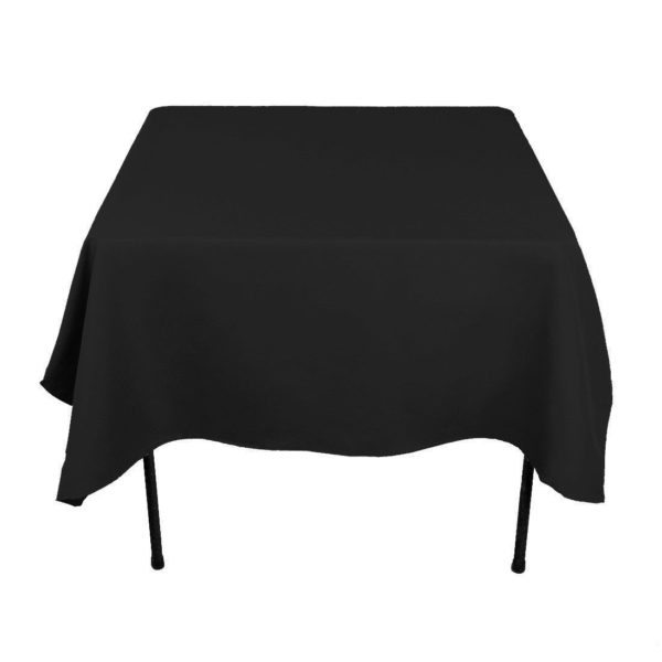 square table linen black tablecloth hire