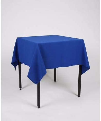 square tablecloth blue hire table linen