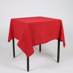 square linen table cover red tablecloth hire
