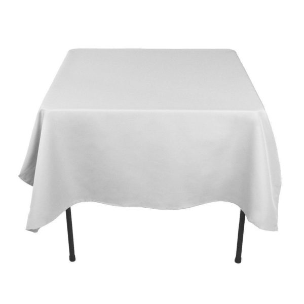 square banqueting tablecloth white hire table linen