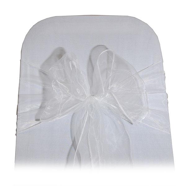 white organza bow tie