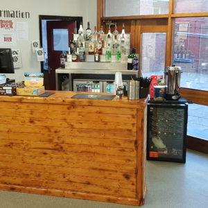 Rustic Wooden Cash Bar