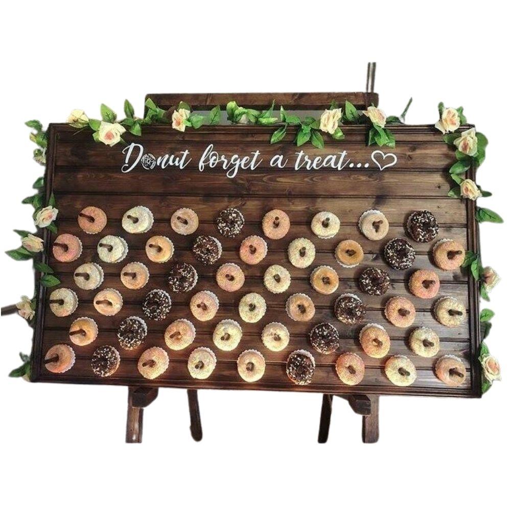 Rustic Wooden Doughnut Wall