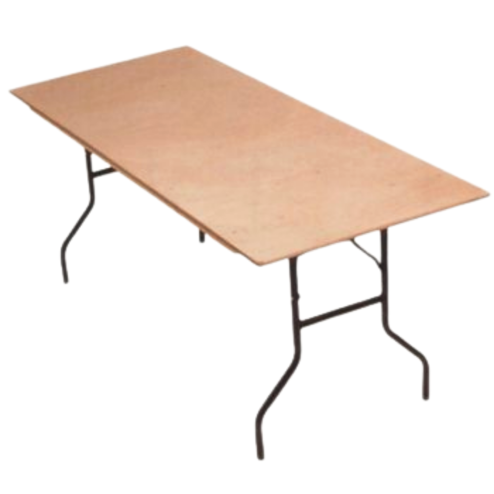 Utopia Bars Wooden 8Ft Rectangular Long Banqueting Table Seats 8-10 Hire