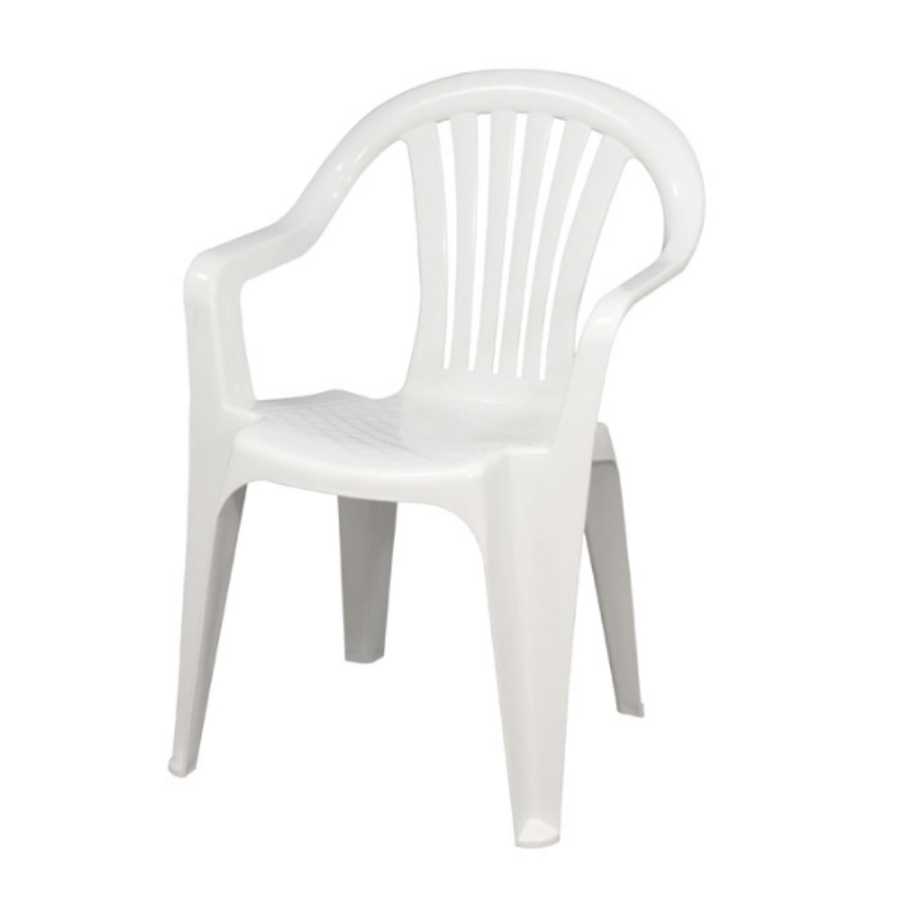 white patio bistro chair